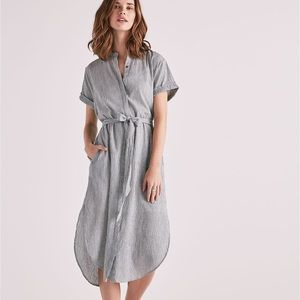 Lucky Brand Striped Shirt Dress